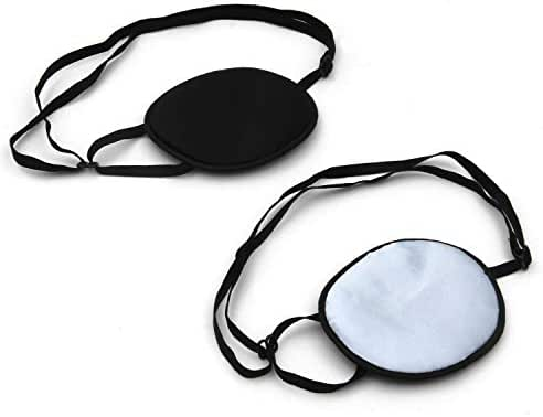KLOUD City Pack of 2 Elastic Silk Eye Patch for Adults Lazy Eye Amblyopia Strabismus