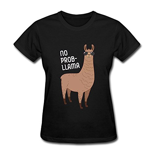 Uouted Lady No Prob Llama With Sunglasses Short Sleeve - Funny About Quotes Sunglasses