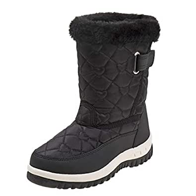 Amazon.com | Rugged Bear Girls Fur Top Quilted Water