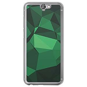 Loud Universe HTC One A9 Geometrical Printing Files A Geo 33 Printed Transparent Edge Case - Green