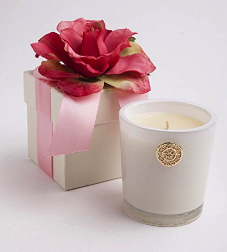 LUX Candles Spring 14oz Glass Votive in Flower Box VERANDA Fragrance Candle