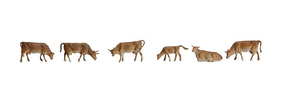 FALLER GmbH Faller 155506 Mountain Cows 6//N Scale Figure Set Gebr