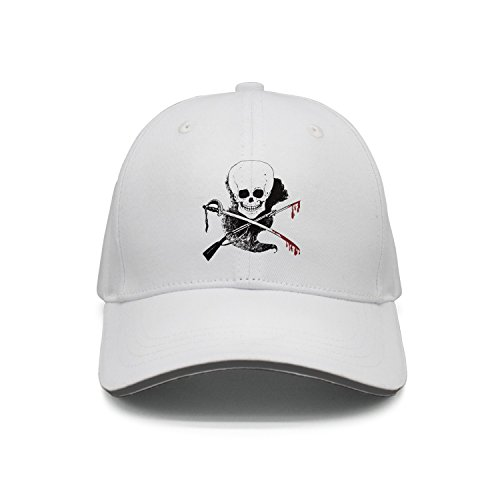 Hey-ifx Twill Sandwich Cap Skull Gun Sword Blood