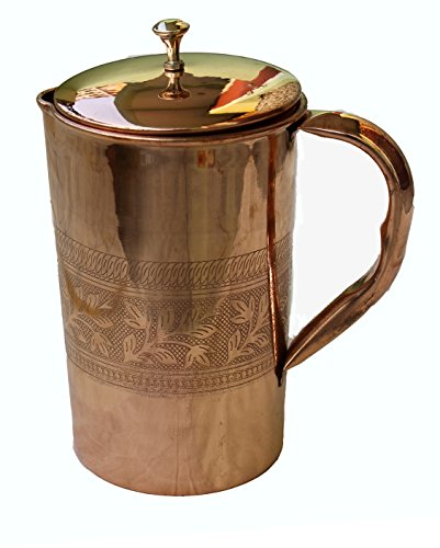 copper pitcher Ayurveda Copper Emboss product image