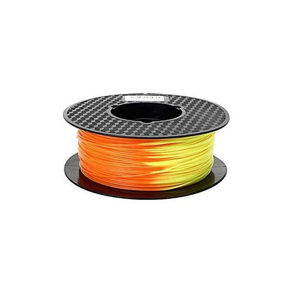 WOL 3D Flashforge PLA Color Changing Filament (1 Kg, 1.75 mm, Yellow to orange)