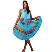 Ingear Tie Dye Umbrella Dress Long Batik Dress