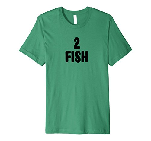 Mens Two Fish Group Halloween Costume Premium T-shirt Large Kelly Green