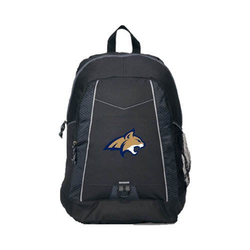 CollegeFanGear Montana State Impulse Black Backpack 'Official Logo - Bobcat ()