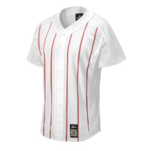 Mizuno 350523.0010.04.S Pro Pinstripe Jersey S White-Red