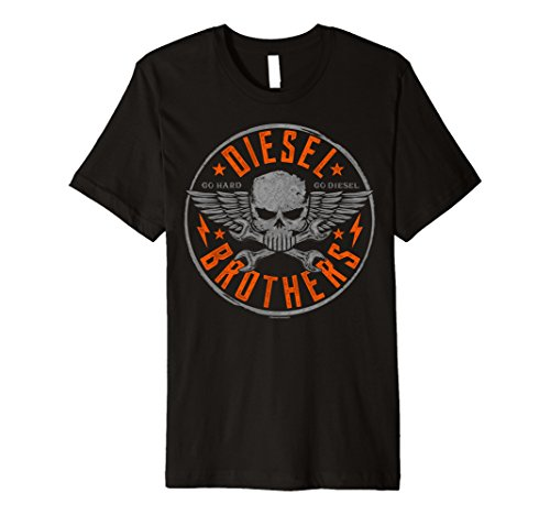 Diesel Womens Clothing - Diesel Brothers Go Hard Skull Wrenches Premium T-Shirt