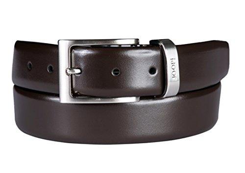 Joop Gürtel eleganter Herren Ledergürtel mit Metallschlaufe dunkelbraun (95)