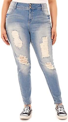 WallFlower Plus Size Luscious Curvy Embellished Skinny Jeans