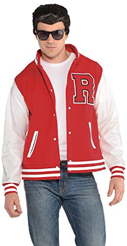 Mens 1950s 50s Football Letterman Jock Sports Athlete TV Movie Film Stag Do Night Party Carnival Fancy Dress -