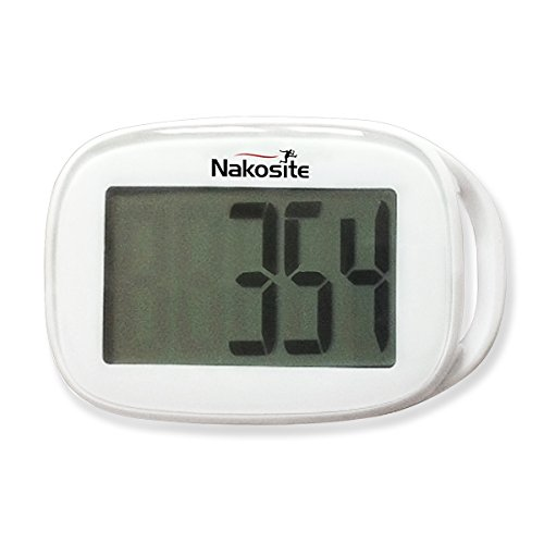 "NAKOSITE Best Walking 3D Simple Pedometer with Strap plus Free eBook. NSPD 2433, Accurate Step Counter ONLY. E-Book ""How I Lost Weight Walking"". 365 Days Warranty"