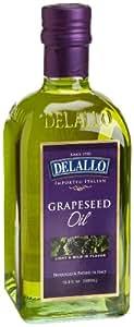 DeLallo Grape Seed Oil, 16.9-Ounce Bottles (Pack of 6)