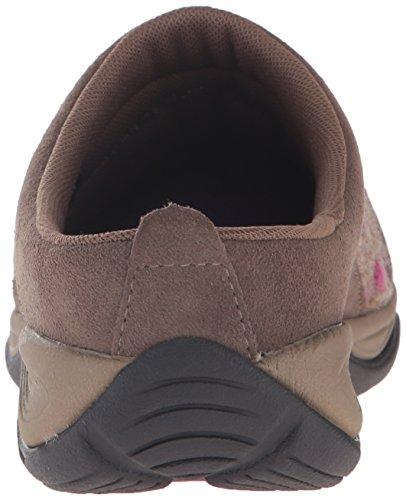 Easy Clog Womens Suede Light Brown Dark Eztime Spirit Taupe rxfUtgrw