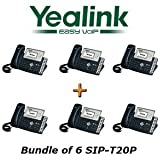 Yealink SIP-T20P - Bundle of 6 Entry Level IP Phone SIP-T20P (with POE)