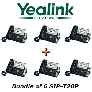 Yealink SIP-T20P – Bundle of 6 Entry Level IP Phone SIP-T20P (with POE)