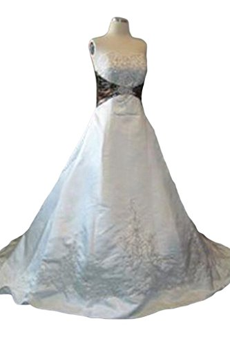 with Strapless Long Line Train Bridal Bride A Camo New Gowns 2015 Angel Long xwY6vXqTx