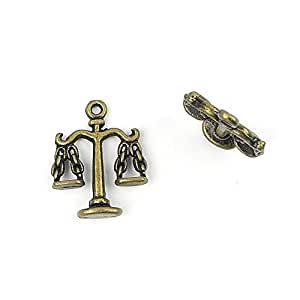 31x Jewellery Supply Supplies Pendant Retro DIY Vintage Schmuckset Keyrings Jewelry Findings Charms A1721 Libra Scale