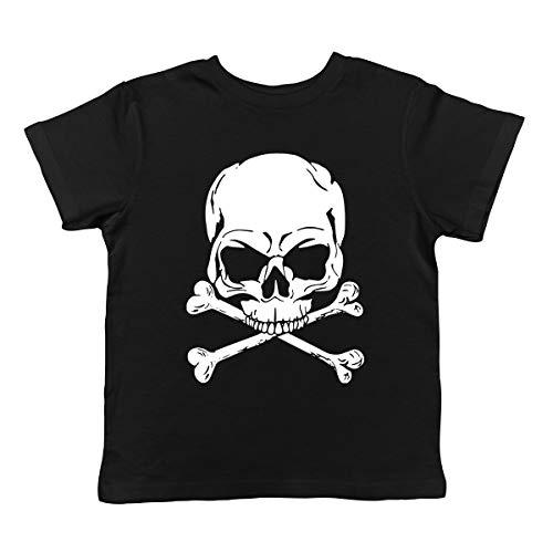 (SpiritForged Apparel Skull and Crossbones Infant T-Shirt, Black 24 Months)