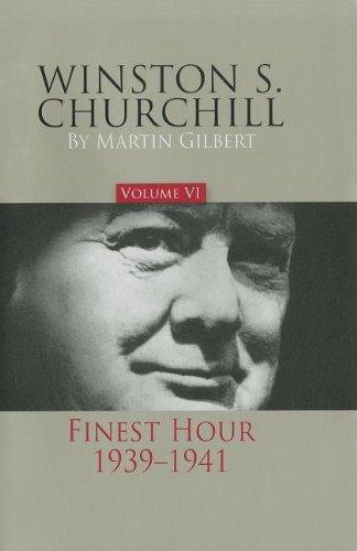 Winston S. Churchill, Volume 6: The Finest Hour, - Map Hillsdale