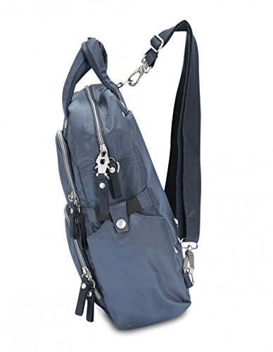 George Gina & Lucy Basic Nylon Free Fall 13'' Sac Messager pour ordinateur portable navy
