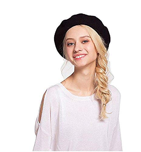 d5f10ccecf234 Amazon.com  TCCSTAR Beret Hat French Style Classic Wool Solid Color ...