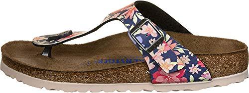 BIRKENSTOCK Damen Tongs Gizeh SFB Birko-Flor Supernatural Flower Navy Sandale