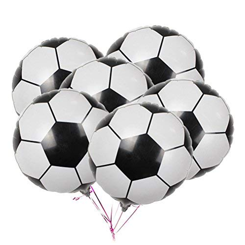 20-Pack Soccer Balloons Game Balloons Foil Mylar Aluminum Party Balloons for Birthday Party Decoration (Soccer Balloons)