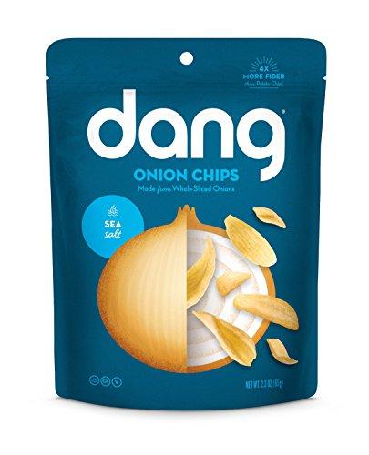 Dang Crispy Caramelized Onion Chips, Sea Salt, 4 Count (Onion Crisps)