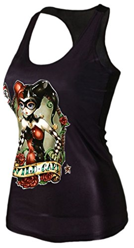 erdbeerloft–Mujer Harley Quinn Tank Top Camiseta print, tamaño S de l s de m, multicolor