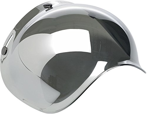 Biltwell Smoke Tint Bubble Shield (Chrome Mirror, One (Mirror Smoke Helmet Shield)