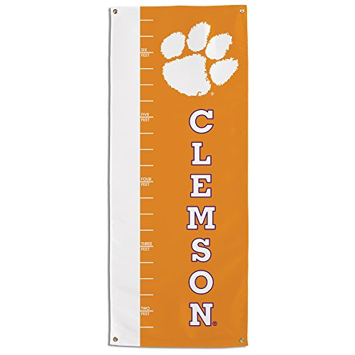 Chart Tiger - NCAA Clemson Tigers Growth Chart Banner, Orange