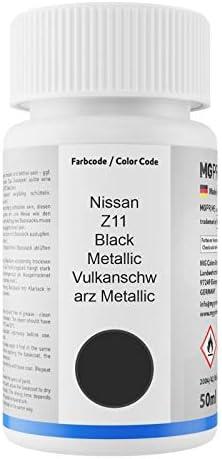 Mg Prime Autolack Lackstift Set Für Nissan Z11 Black Metallic Vulkanschwarz Metallic Basislack Klarlack Je 50ml Auto