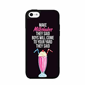 BleuReign(TM) Milkshakes Brings All the Boys to the Yard - Plastic Phone Case Back Cover (iPhone 5c)
