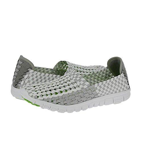 Heavenly Feet Lizzy - White/Silver (Textile) Womens Shoes 7nwbYsNMJ