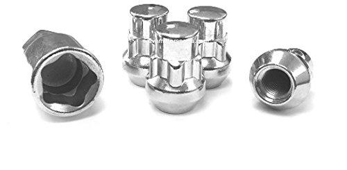 1/2 Acorn Chrome Wheel Locks 1/2-20 Custom Locking Lug Nuts Fits Most (20 Chrome Locking Lug Nuts)