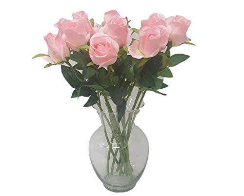 Silk Flower Garden 1 Dozen Long-Stem Rose Buds 22