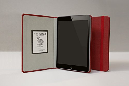 The iPad Mini Solid Case by DODOcase - The Original Handcrafted Book Bound iPad Case (Slim Cardinal)