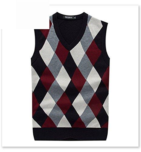 Shengdada Modern V-Neck Wool Cashmere Vest Sleeveless S-3Xl Men'S Knitting Vest Dress Vest Hot Multim