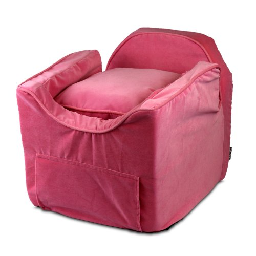 Snoozer Luxury Lookout Pet Car Seat, Small Luxury II, Pink with Pink