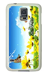 Customized Samsung Galaxy S5 White Edge PC Phone Cases - Personalized Dreamscape Spring 5 Cover