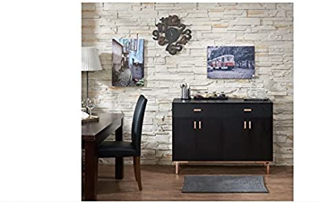 Captivating Mason Black Finish Buffet/ Dining Server, Modern, Chic And Sleek Aesthetic  In Style
