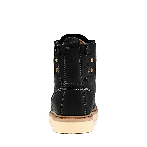 ICEGREY Herren Leder Chukka Stiefel Winter Boots Stiefeletten Schwarz EU 41