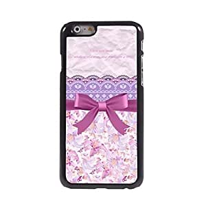 WQQ Princess's Dreamy Cute Bowknot Pattern Aluminum Hard Case for iPhone 6 Plus