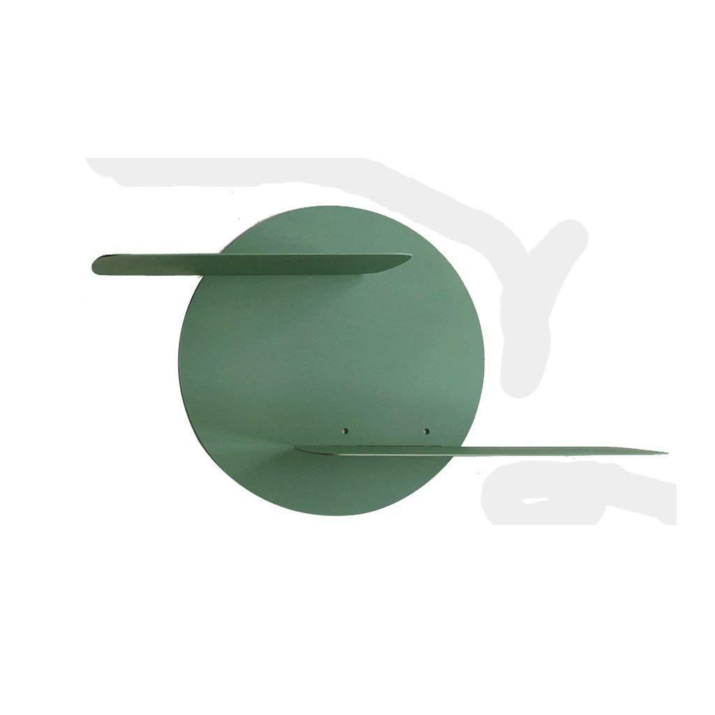 YCT 収納キャビネットを整理する、棚2階建ての壁の装飾、個人用リビングルーム、壁掛け本棚、寝室、クリエイティブフルムーンフレーム (Color : 緑) B07R9KP445 緑