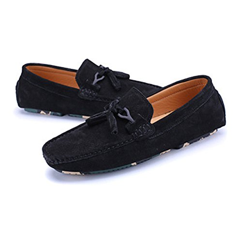 Xiaojuan Dimensione da Mocassini da Color Nero pelle guida vera decor in penny con EU uomo nappa 40 Cachi shoes Mocassini azxpr0a