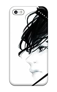 art butterfly girlhead cage sky stars anime Anime Pop Culture Hard Plastic iPhone 5/5s cases