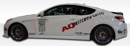 2dr Hot Wheels - 2010-2013 Hyundai Genesis 2DR Duraflex Hot Wheels Side Skirts Rocker Panels - 2 Piece